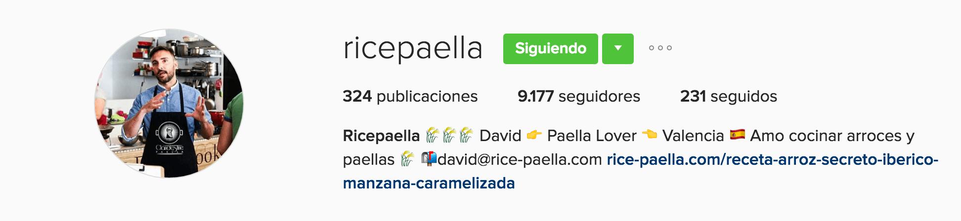 ricepaella usos de instagram para empresas